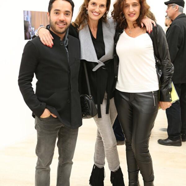 Alex Bracho,Mónica Fallon y Mariana Braun