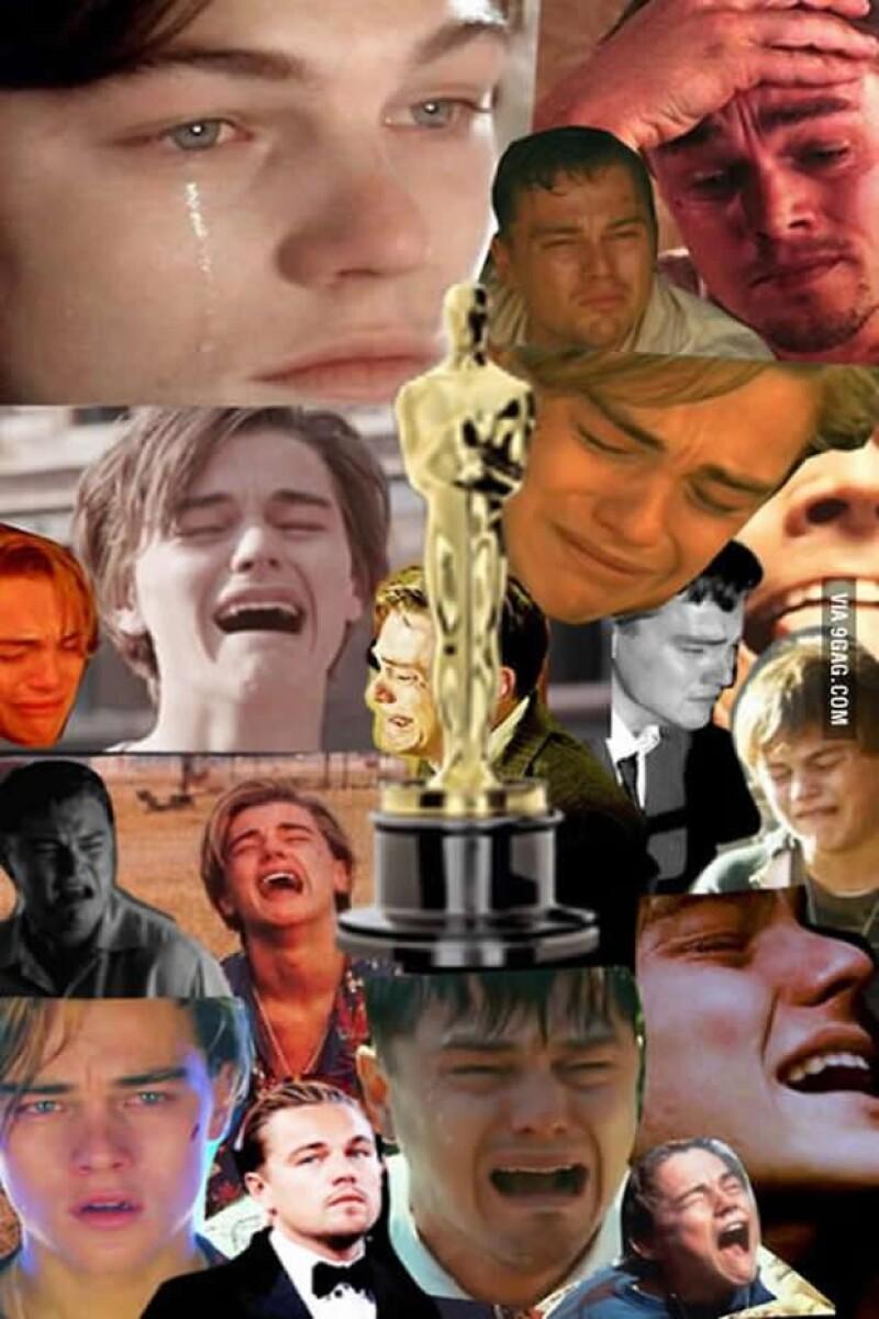 Leo estaba nominado como Mejor Actor, sin embargo Matthew McConaughey fue quien se llevó el Oscar.