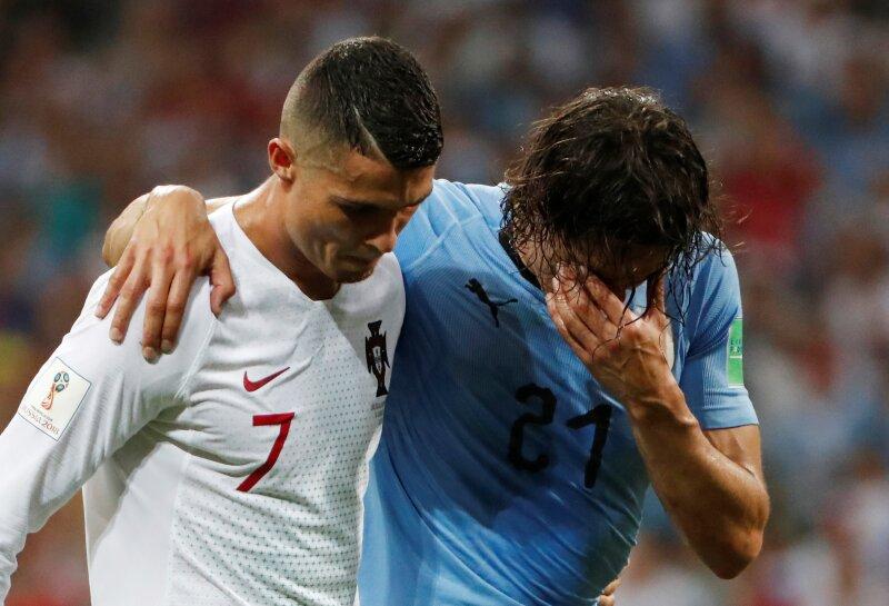 Cavani y Ronaldo