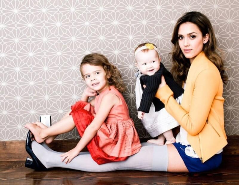 La actriz posó con sus hijas Honor y Haven para la empresa Fast Company, la cual nombró a la estadounidense una de las cien personas más creativas de la industria.
