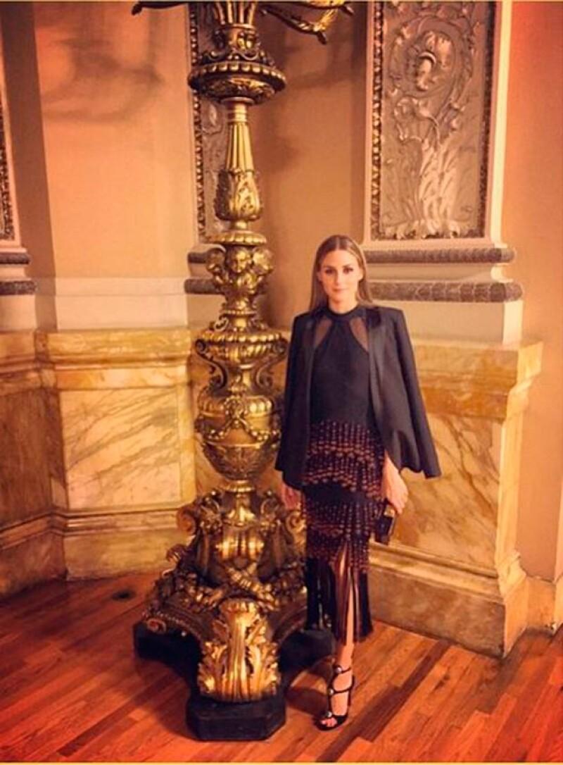 La actriz mexicana compartió en Instagram una fotografía junto a la reconocida actriz y modelo en un evento de moda.