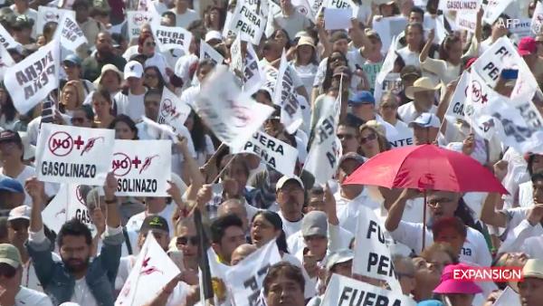 Las marchas por el 'gasolinazo' azotan a la CDMX
