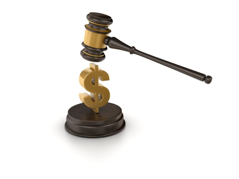 Gavel with Dollar Sign - 3D Rendering