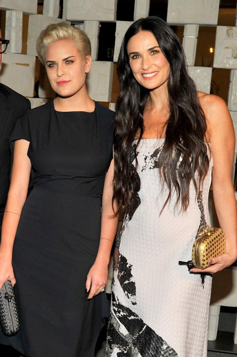 La hija de Bruce Willis y Demi Moore, de 21 años de edad, es una actriz low profile que recientemente decidió rapar por completo su pelo y que luce un estilo poco convencional.