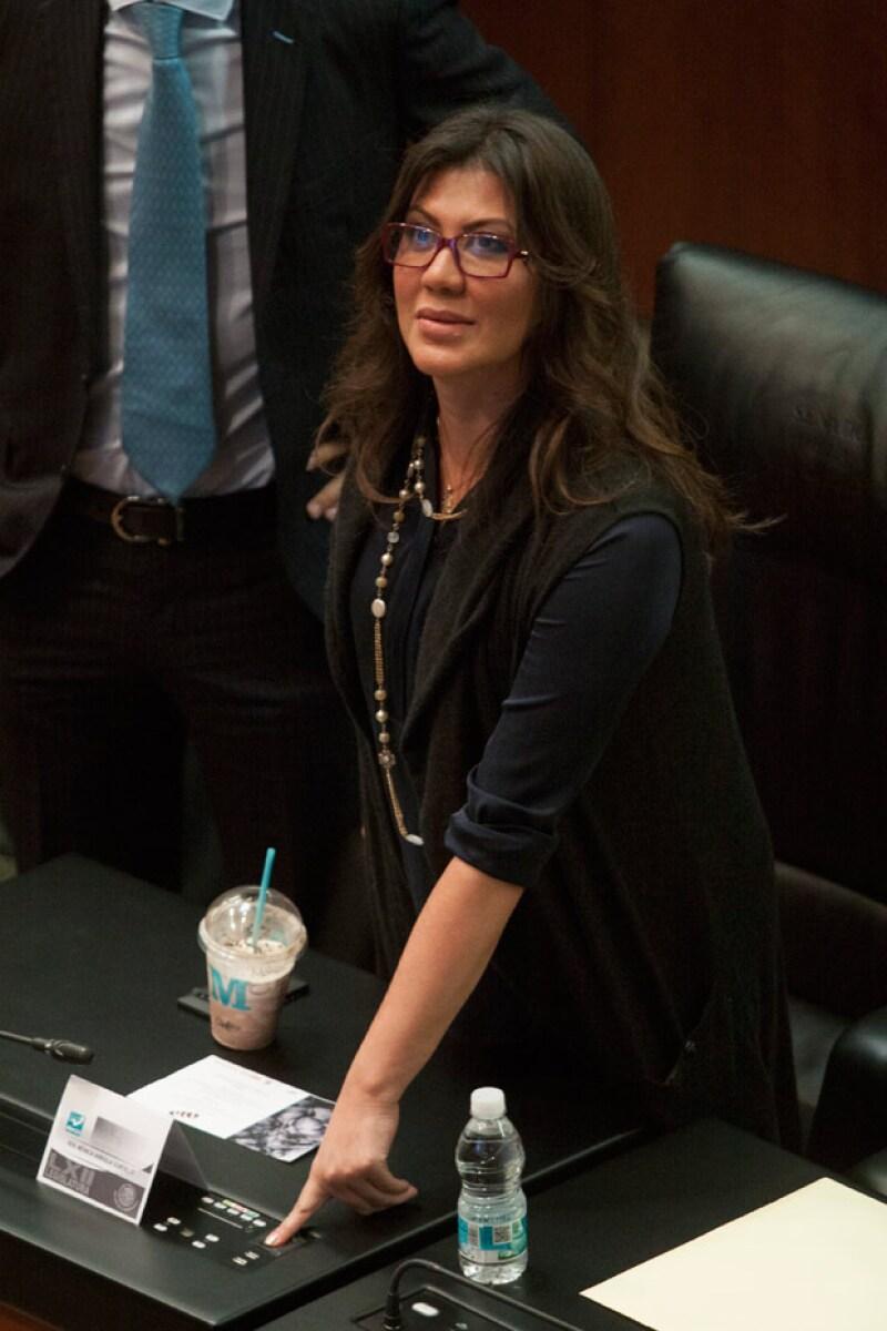 Mónica Arriola era senadora del partido Nueva Alianza.