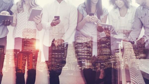 edificio, redes sociales, ciudad