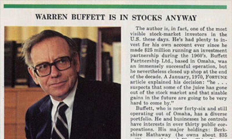 Buffett señala que las acciones lo pasan mal en un ambiente inflacionario. (Foto: Cortesía Fortune)