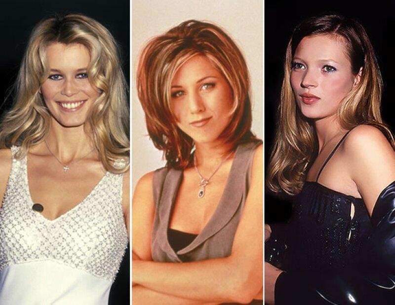 En los 90's, Claudia Schiffer, Jennifer Aniston y Kate Moss fueron grandes íconos de estilo.