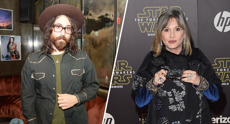 Sean Lennon y Carrie Fisher