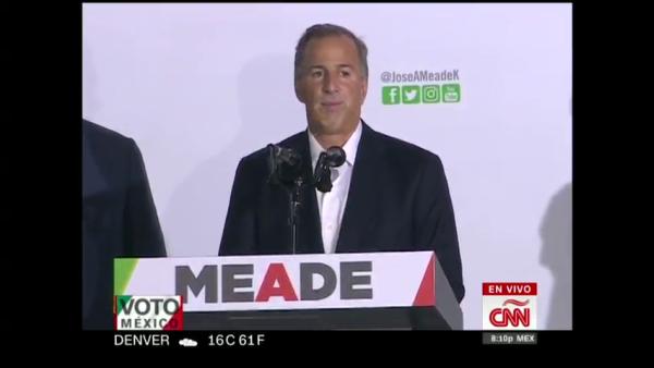 """López Obrador fue """"el favorecido"""", reconoce José Antonio Meade"""