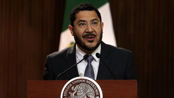 Martí Batres, presidente de la Mesa Directiva del Senado. Foto: Notimex