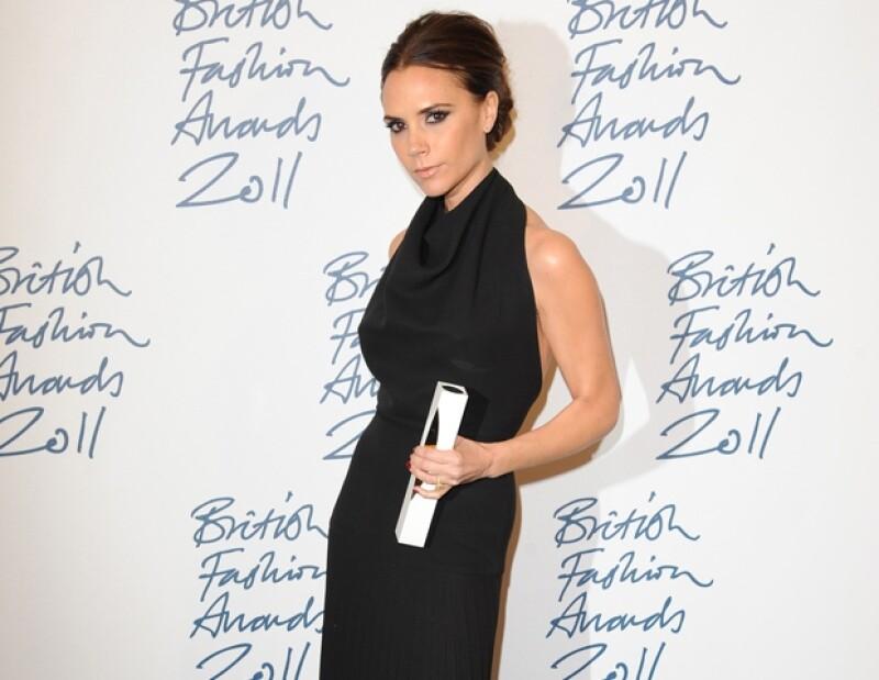 Victoria ganó el premio a la mejor diseñadora británica el año pasado.