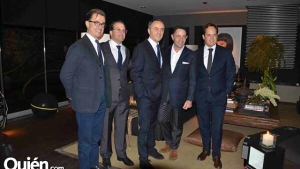 Enrico Monresi,Bernardo González,Nero Alessandri,Sergio Berger y Carlos Gómez