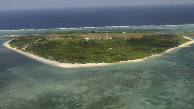 vista aerea de la isla spratly