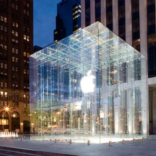 El cubo de vidrio, uno de los íconos de la firma de la manzana en la Quinta Avenida, en Nueva York.