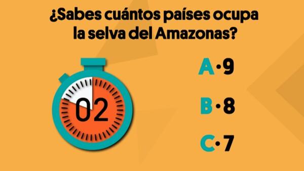 ¿Sabes cuántos países ocupa la selva del Amazonas? | #Crono ⌛