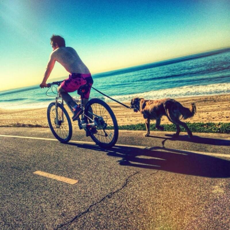 Aislinn considera que salir a disfrutar de un día soleado con Mauricio es el mejor plan.