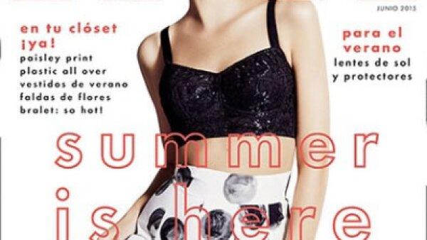 La modelo holandesa Patricia van der Vliet en un look Dolce & Gabbana para Elle México.
