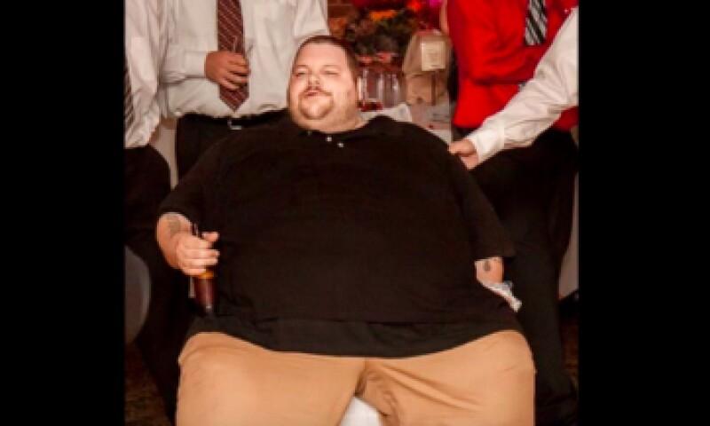 Así se veía Ronnie Brower cuando pesaba más de 300 kilos. (Foto: Especial)