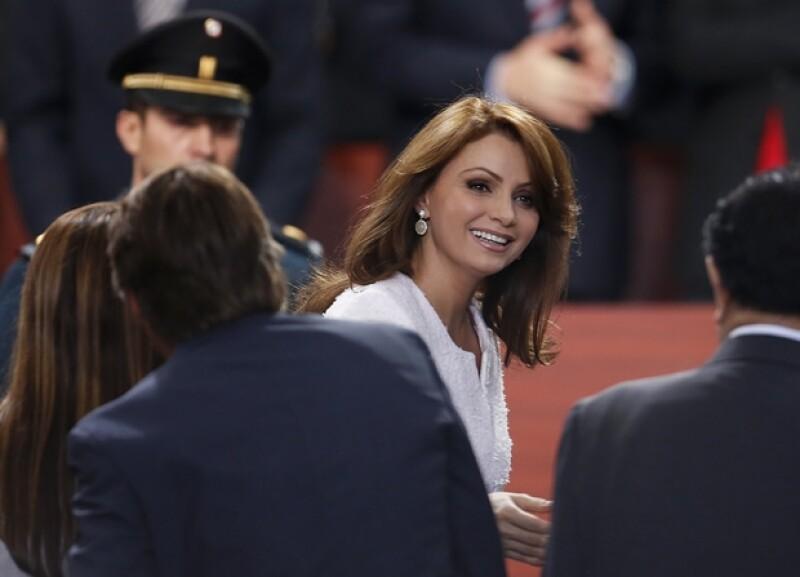 Angélica Rivera durante el informe de gobierno.