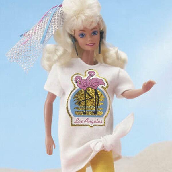 Esta Barbie ochentera muestra el estilo de vida de aquella época.