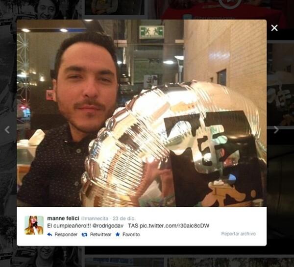 Manne compartió esta imagen el día del cumpleaños de Rodrigo.