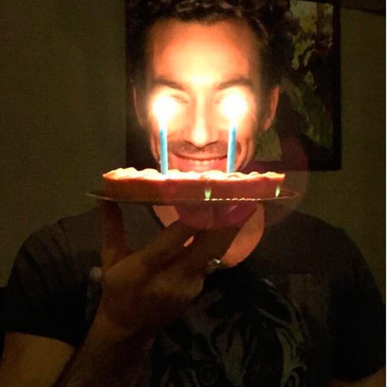 Aarón Díaz está celebrando en Italia.