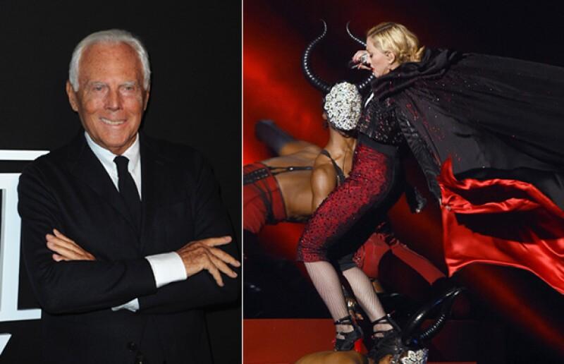 El diseñador italiano, quien hizo la famosa capa que le ocasionó la caída a la cantante, declaró hoy que fue su culpa el que no pudiera desabrochársela.