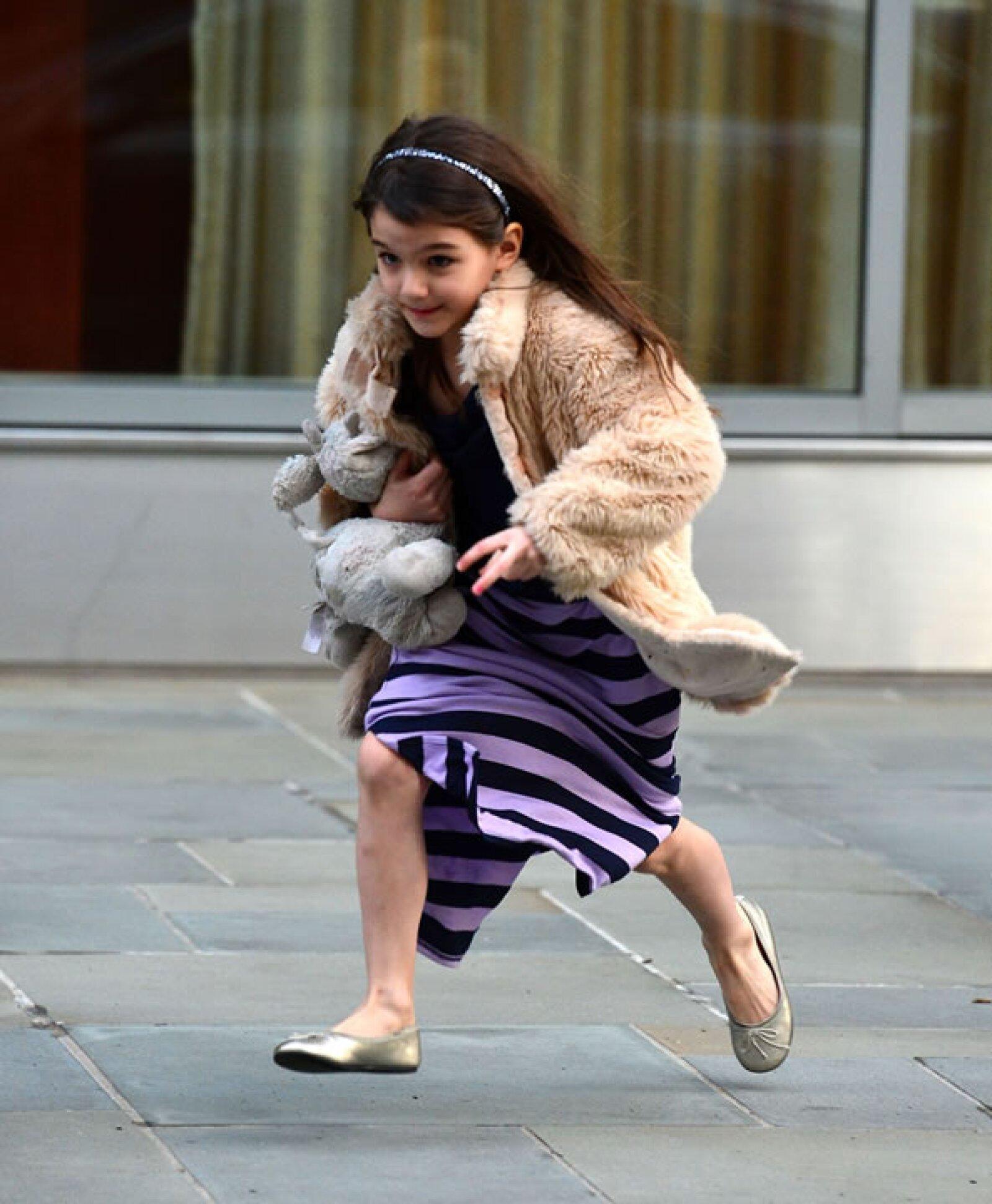 Aunque el clima sea frío, ella siempre está a la moda.