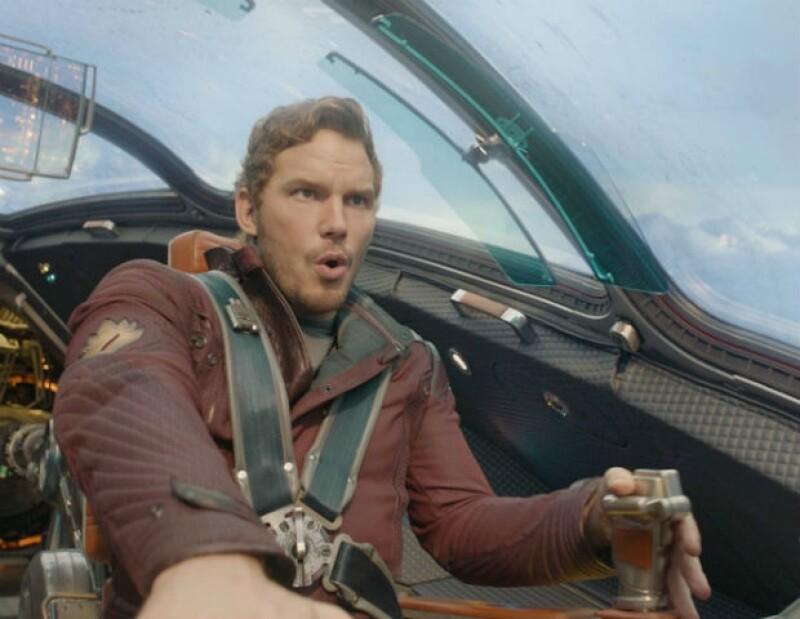 """Chris interpreta al héroe galáctico Star-Lord en """"Guardianes de la Galaxia""""."""