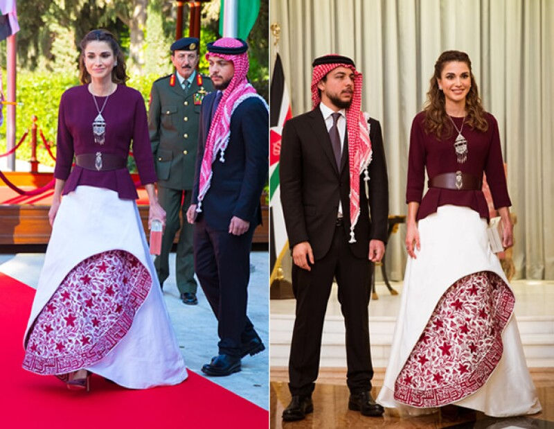 Siendo siempre un ejemplo de estilo, Rania impactó con su atendo.