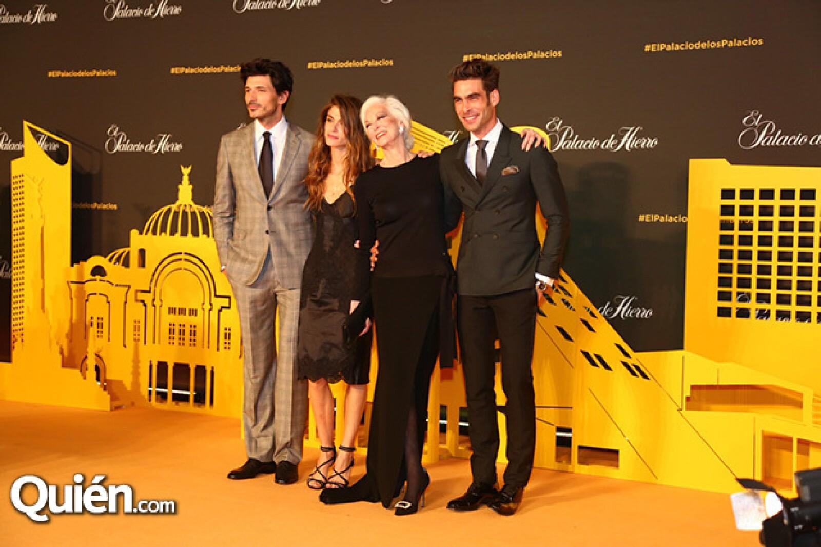 Andrés Velencoso,Elisa Cednauri,Carmen Dell`Orefice y Jon Kortajarena