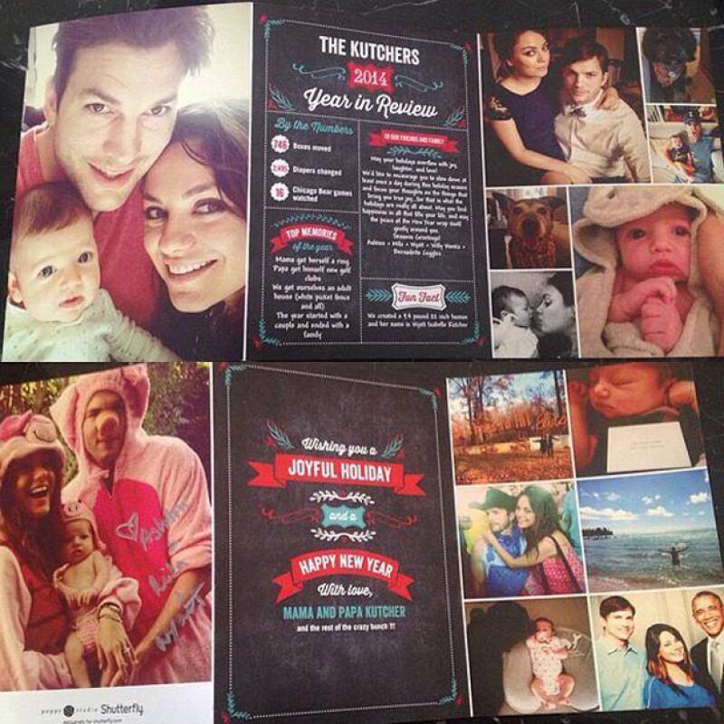 Ashton, Mila y la pequeña Wyatt se ven de lo más felices en estas fotos familiares que un usuario desconocido filtró en la red.
