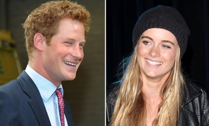 Esta es la novia del príncipe Enrique, con quien pasó un largo y cariñoso día de esquí en Suiza.