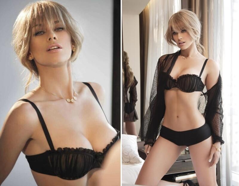 Entre sus outfits está un conjunto en negro con el que luce elegante y sensual.