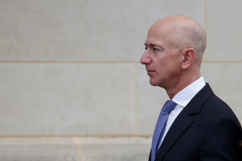FILE PHOTO: Amazon founder Jeff Bezos pictured in Washington, U.S., September 1, 2018