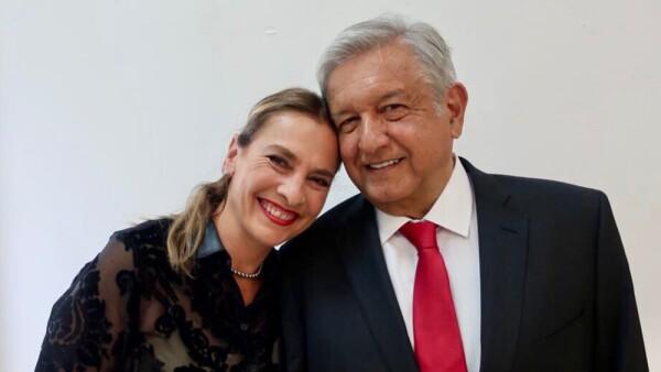 Beatriz Müller y Andrés Manuel López Obrador