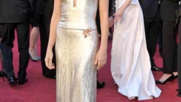 El sencillo y elegante estilo de Gwyneth va de la mano con el protocolo de Calvin Klein.