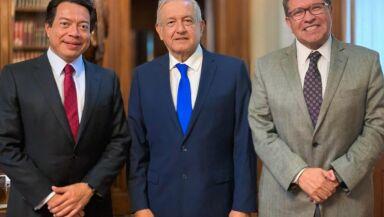 AMLO con Delgado y Monreal