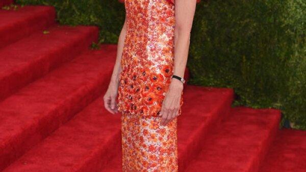 La co-chair de la gala en Chanel Haute Couture Spring 2015.