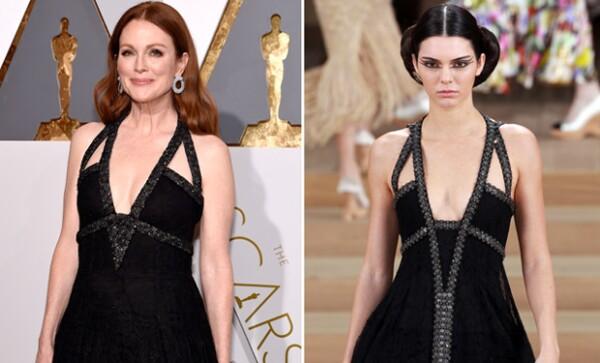 Un Chanel Haute Couture en negro de tirantes. ¿A quién se le ve mejor?