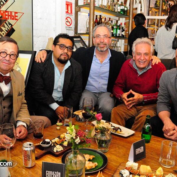Feliz Sánchez,Marcos Betamzos,Gerry Pascal,Mario Schjetnan y Carlos Pascal