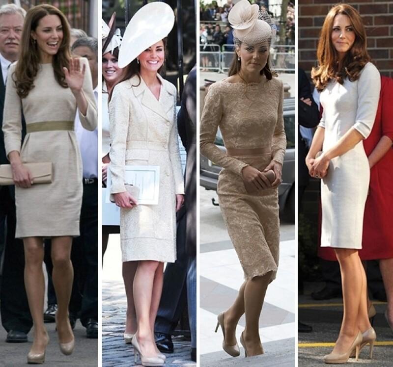 No importa el color de su vestido, Kate ama combinar su ropa con este tipo de zapatos.