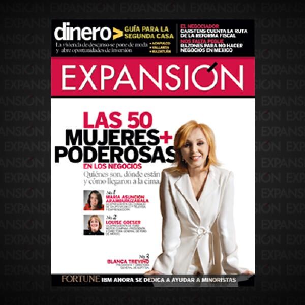 El ranking, liderado por María Asunción Aramburuzabala, cambio un poco su metodología y esta vez incluyó a emprendedoras. La presidenta y directora general de Softtek ocupó la portada.