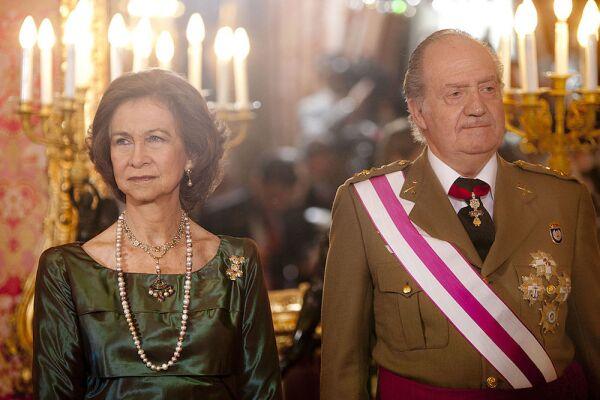 Spanish Royals Celebrate New Year's Military Parade 2011