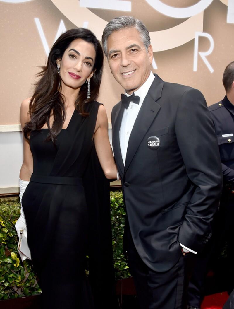 Amal acompañó a su esposo en la entrega de premios, quien recibió un reconocimiento especial por su trayectoria en cine.