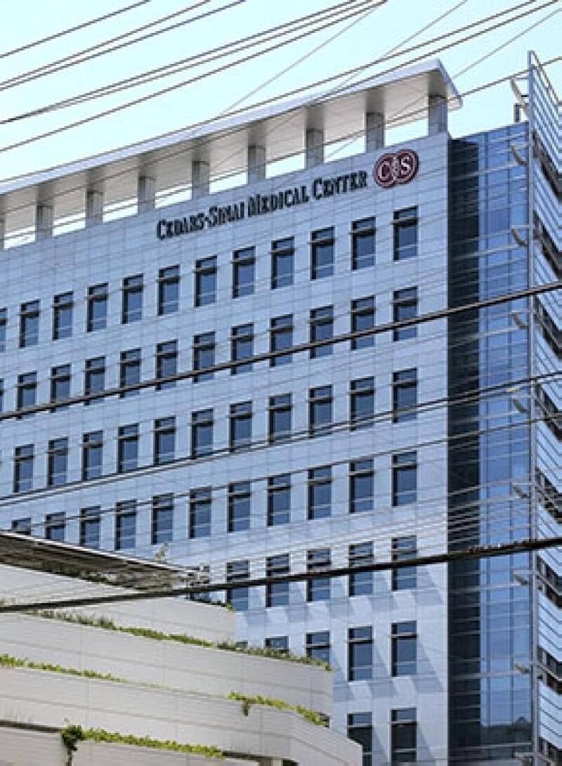 El hospital Cedars-Sinai Medical Center en Los Angeles, California en donde Kim y Kanye dieron la bienvenida a su primera hija.
