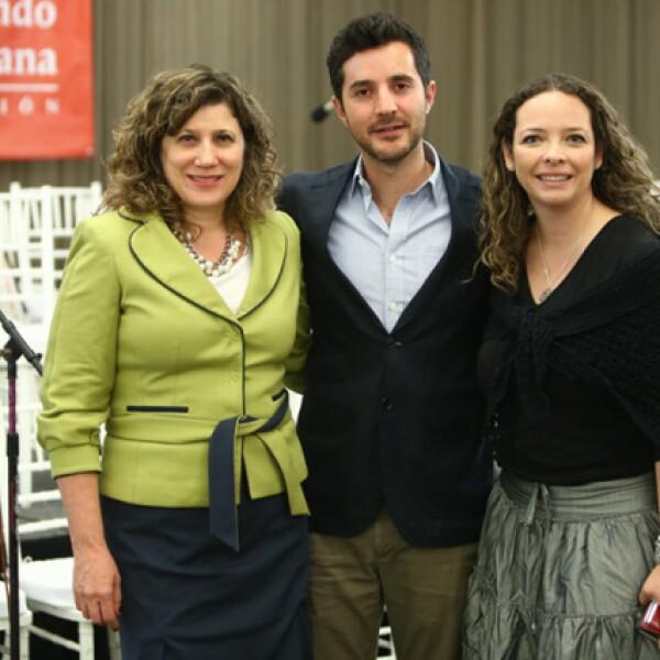 Zerene Kahan, Diego Adame y Nancy Lara