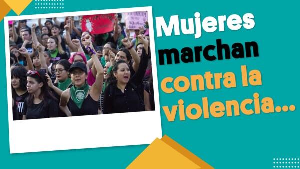 Mujeres marchan contra la violencia... pero grupos caen en disturbios | #EnSegundos