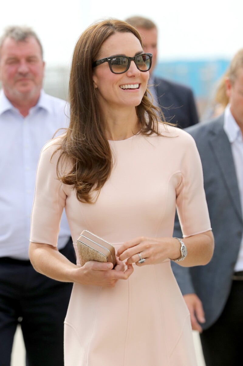 Kate Middleton, como siempre, todo lo tomó con un excelente humor.